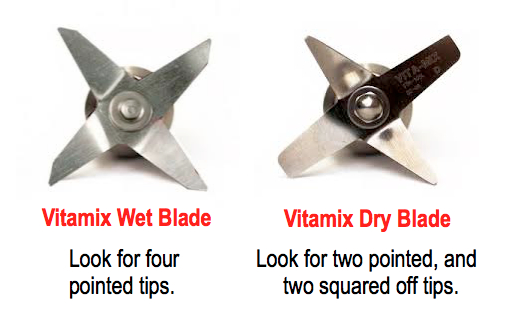 wet and dry blades used on Vitamix Containers